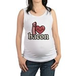 I Heart Bacon Maternity Tank Top