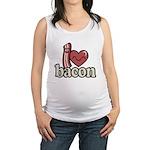 I Heart Bacon Maternity Tank Top