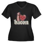 I Heart Bacon Plus Size T-Shirt