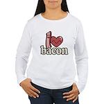I Heart Bacon Long Sleeve T-Shirt