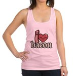 I Heart Bacon Racerback Tank Top