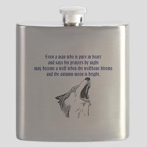 werewolf (blue writing) Flask