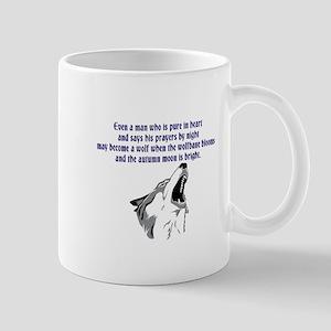 werewolf (blue writing) Mugs