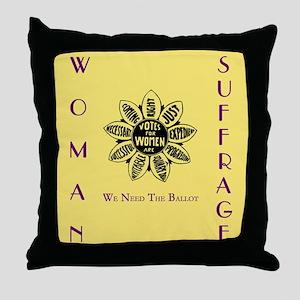 Votes For Women slogans square Throw Pillow