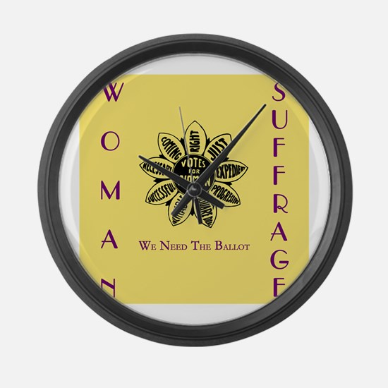 Votes For Women slogans square Large Wall Clock