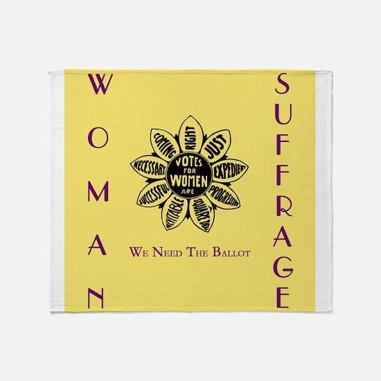Votes For Women slogans square Throw Blanket
