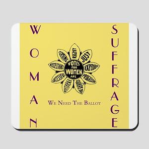 Votes For Women slogans square Mousepad