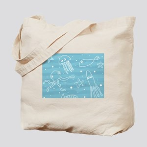 Cute Sea Life Tote Bag