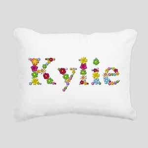 Kylie Bright Flowers Rectangular Canvas Pillow