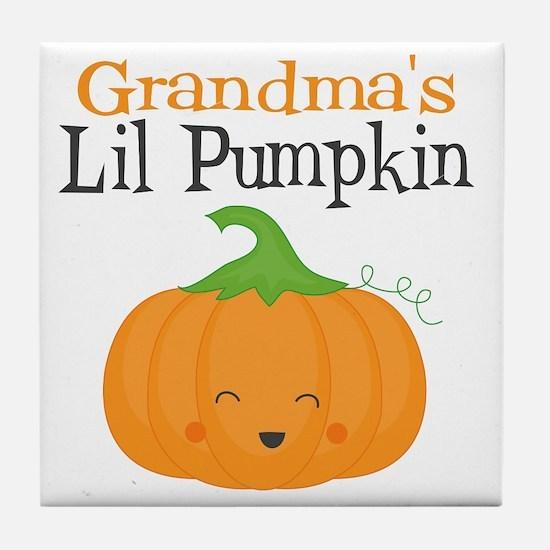 Grandmas Little Pumpkin Tile Coaster