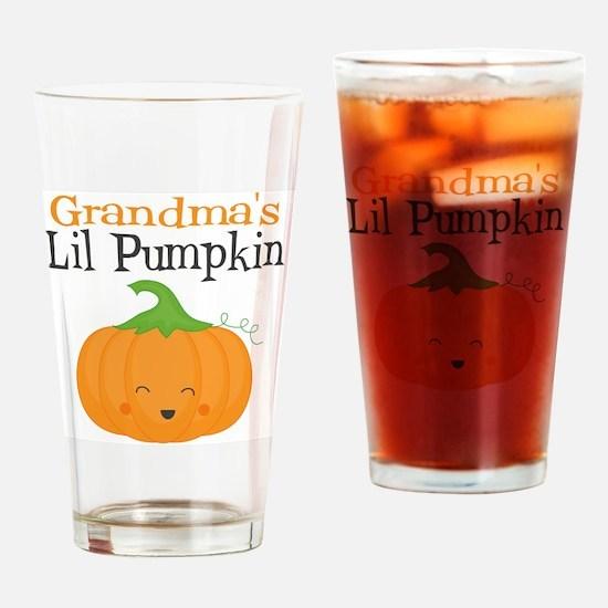 Grandmas Little Pumpkin Drinking Glass