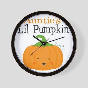 Aunties Little Pumpkin Wall Clock