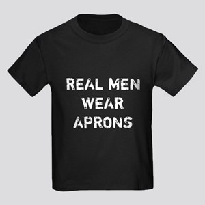 Real Men Wear Aprons Kids Dark T-Shirt