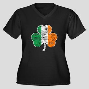 Vintage Irish Flag Shamrock Plus Size T-Shirt