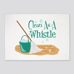 Clean As A Whistle 5'x7'Area Rug