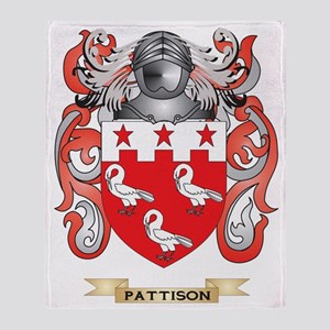 Pattison Coat of Arms (Family Crest) Throw Blanket
