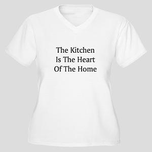 Kitchen Saying Women's Plus Size V-Neck T-Shirt