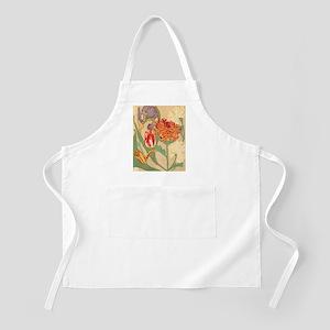Art Nouveau Flowers Apron