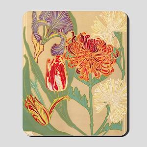 Art Nouveau Flowers Mousepad