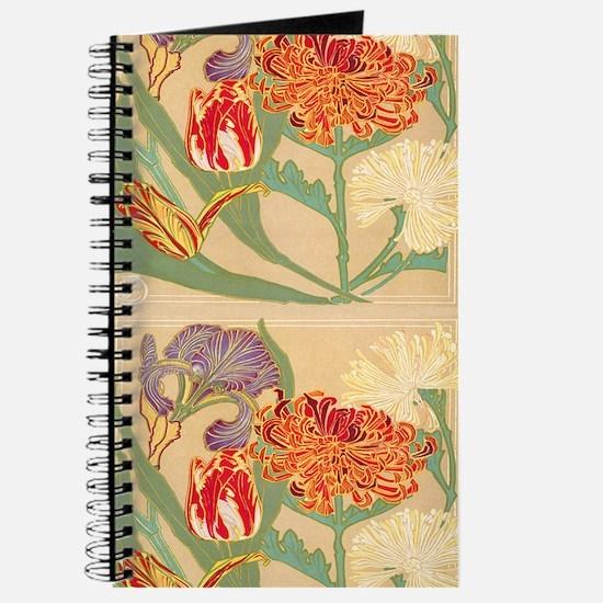 Art Nouveau Flowers Journal