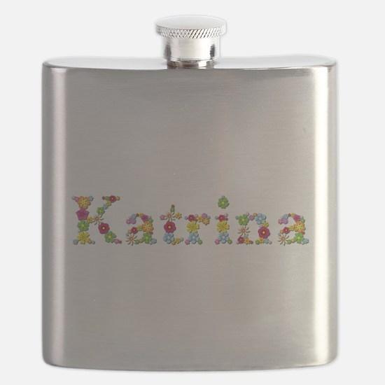 Katrina Bright Flowers Flask
