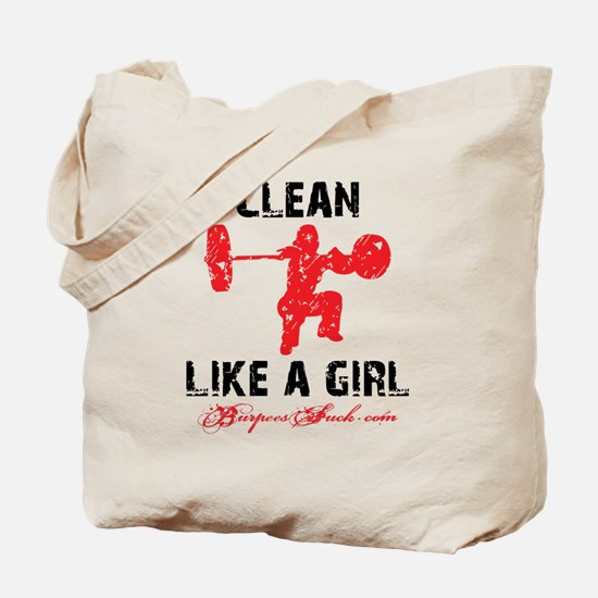CLEAN LIKE A GIRL - WHITE II Tote Bag