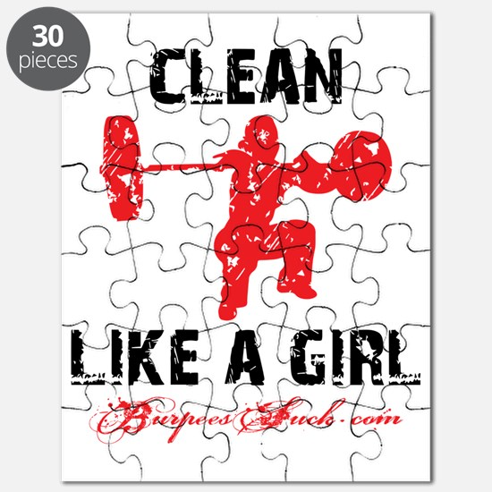 CLEAN LIKE A GIRL - WHITE II Puzzle