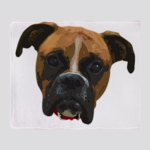 Boxer face005 Throw Blanket
