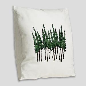 OLD GROWTH Burlap Throw Pillow