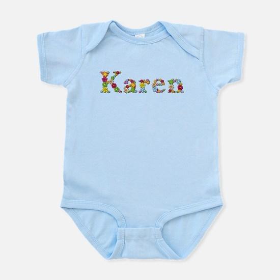 Karen Bright Flowers Body Suit