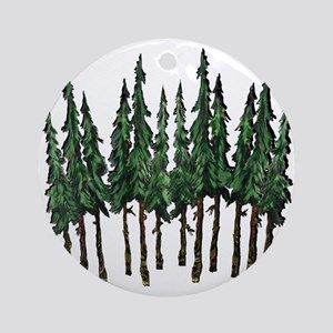 OLD GROWTH Round Ornament