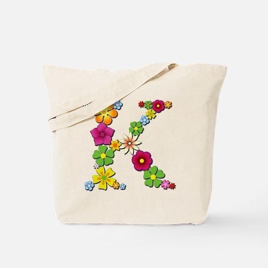 K Bright Flowers Tote Bag