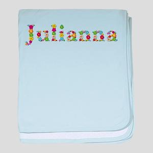 Julianna Bright Flowers baby blanket