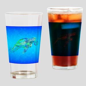 Sea Turtle Wave Drinking Glass