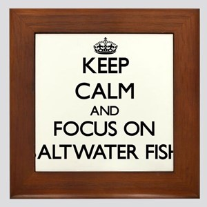 Keep calm and focus on Saltwater Fish Framed Tile