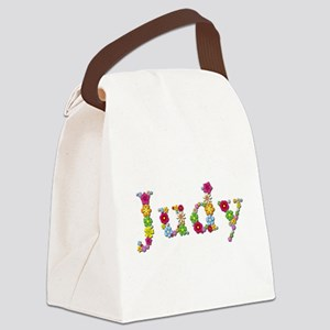 Judy Bright Flowers Canvas Lunch Bag