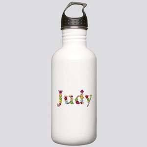 Judy Bright Flowers Water Bottle