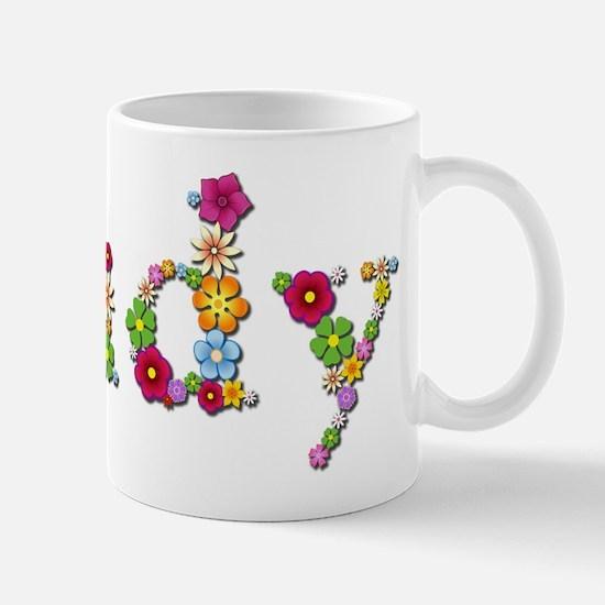 Judy Bright Flowers Mugs