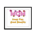Mom Paycheck Framed Panel Print
