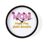 Mom Paycheck Wall Clock
