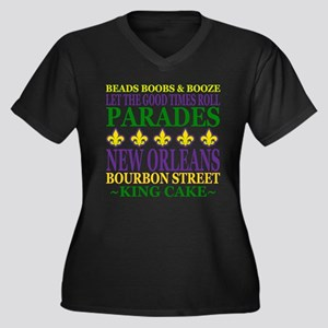 Mardis Gras Fun Plus Size T-Shirt