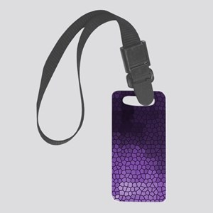 Mosaic Stained Glass Purple Small Luggage Tag