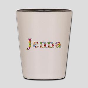 Jenna Bright Flowers Shot Glass