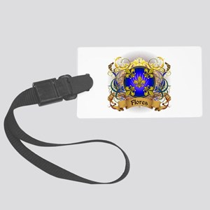 Flores Family Crest Large Luggage Tag