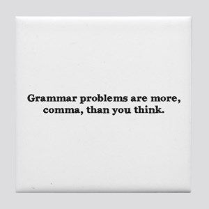 Comma Grammar Problem-1 Tile Coaster