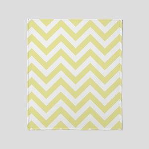 Yellow and White chevrons 2 Throw Blanket
