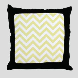 Yellow and White chevrons 2 Throw Pillow