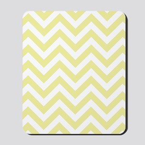 Yellow and White chevrons 2 Mousepad