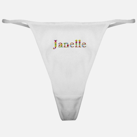 Janelle Bright Flowers Classic Thong