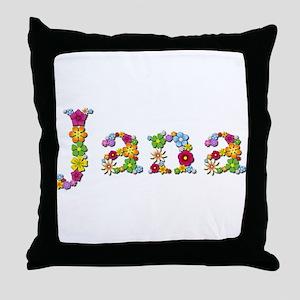 Jana Bright Flowers Throw Pillow